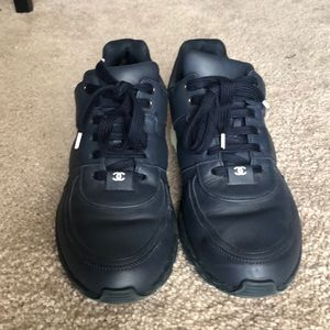 Chanel Navy Trainers